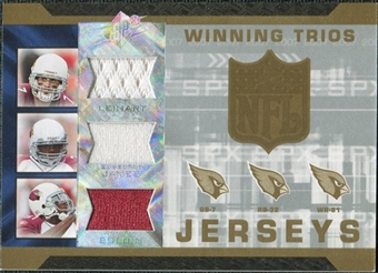 2007 Upper Deck SPx Winning Trios Jerseys #LJB Matt Leinart Edgerrin James Anquan Boldin