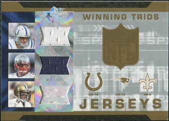 2007 Upper Deck SPx Winning Trios Jerseys #MBB Peyton Manning/Tom Brady/Drew Brees
