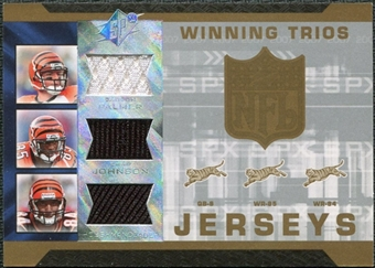 2007 Upper Deck SPx Winning Trios Jerseys #PJH Carson Palmer Chad Johnson T.J. Houshmandzadeh