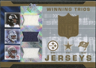 2007 Upper Deck SPx Winning Trios Jerseys #PWB Troy Polamalu Roy Williams Ronde Barber