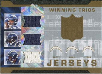 2007 Upper Deck SPx Winning Trios Jerseys #RTG Philip Rivers LaDainian Tomlinson Antonio Gates