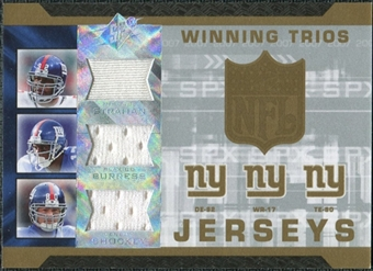 2007 Upper Deck SPx Winning Trios Jerseys #SBS Michael Strahan Plaxico Burress Jeremy Shockey