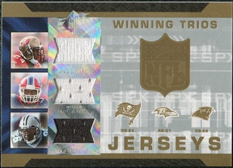 2007 Upper Deck SPx Winning Trios Jerseys #WMF Cadillac Williams Willis McGahee DeShaun Foster