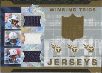 2007 Upper Deck SPx Winning Trios Jerseys #YBG Vince Young Chris Brown David Givens