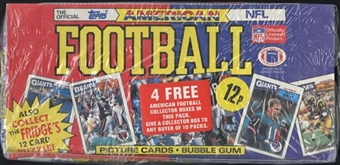 1987 Topps UK American Football Unopened Wax Box