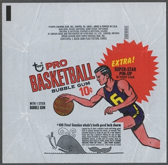 1969/70 Topps Basketball Wrapper