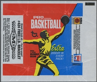 1971/72 Topps Basketball Wrapper