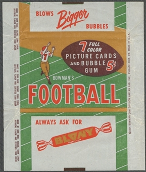 1954 Bowman Football Wrapper (5 cents)