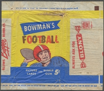 1955 Bowman Football Wrapper (5 cents)
