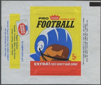 1963 Fleer Football Wrapper