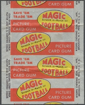 1951 Topps Magic Football Wrapper