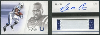 2011 Panini Playbook #112 Delone Carter RC Patch Jersey Autograph 262/399
