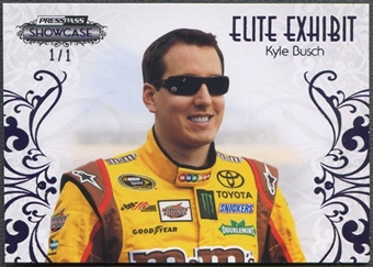 2012 Press Pass Showcase #34 Kyle Busch Purple Elite Exhibit #1/1