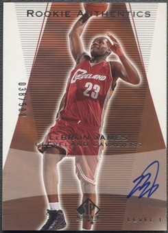 2003/04 SP Authentic #148 LeBron James Rookie Auto #038/500