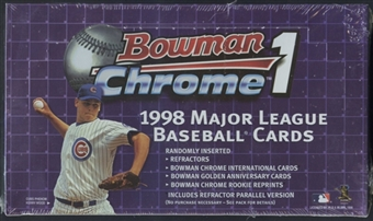 1998 Bowman Chrome Series 1 Baseball 24-Pack Retail Box