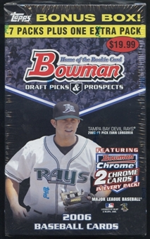 2006 Bowman Draft Picks & Prospects Baseball Blaster Box