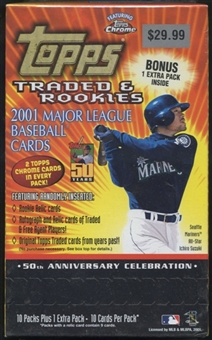 2001 Topps Chrome Traded & Rookies Baseball Blaster Box