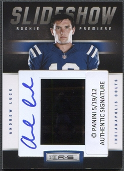 2012 Rookies and Stars #12 Andrew Luck Rookie Premiere Slideshow Auto #36/50