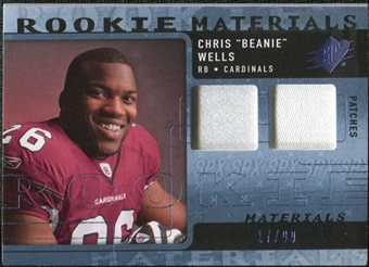 2009 Upper Deck SPx Rookie Materials Dual Swatch Patch #RMCW Chris Wells /99