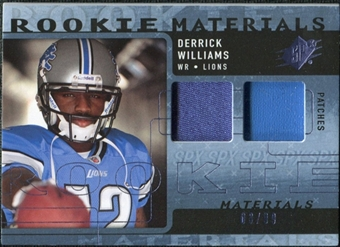 2009 Upper Deck SPx Rookie Materials Dual Swatch Patch #RMDW Derrick Williams /99