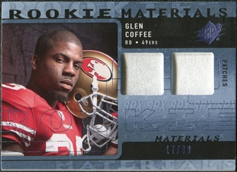 2009 Upper Deck SPx Rookie Materials Dual Swatch Patch #RMGC Glen Coffee /99