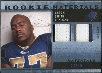 2009 Upper Deck SPx Rookie Materials Dual Swatch Patch #RMJS Jason Smith /99