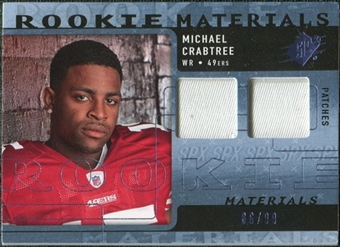2009 Upper Deck SPx Rookie Materials Dual Swatch Patch #RMMC Michael Crabtree /99