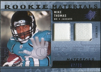 2009 Upper Deck SPx Rookie Materials Dual Swatch Patch #RMMT Mike Thomas /99