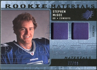 2009 Upper Deck SPx Rookie Materials Dual Swatch Patch #RMSM Stephen McGee /99