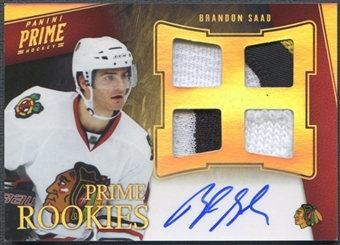 2011/12 Panini Prime #107 Brandon Saad Rookie Hologold Patch Auto #24/25