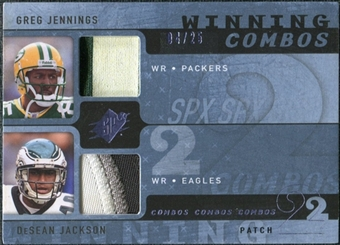 2009 Upper Deck SPx Winning Combos Patch #JJ Greg Jennings/DeSean Jackson /25
