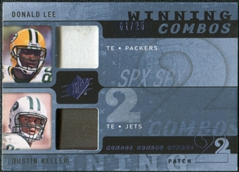 2009 Upper Deck SPx Winning Combos Patch #LK Donald Lee/Dustin Keller /25