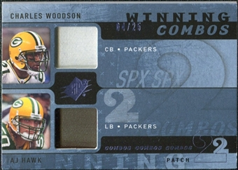 2009 Upper Deck SPx Winning Combos Patch #WH Charles Woodson/A.J. Hawk /25