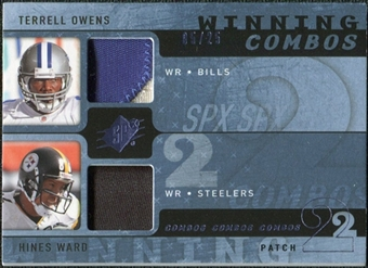 2009 Upper Deck SPx Winning Combos Patch #WO Terrell Owens/Hines Ward /25