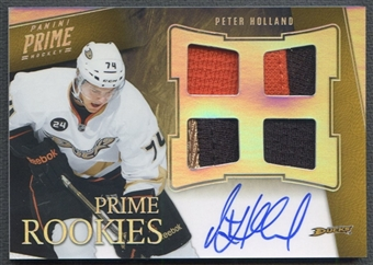 2011/12 Panini Prime #102 Peter Holland Rookie Holosilver Patch Auto #05/50