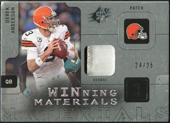 2009 Upper Deck SPx Winning Materials Patch #WAN Derek Anderson /99