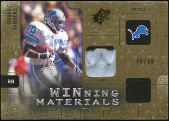 2009 Upper Deck SPx Winning Materials Patch #WBS Barry Sanders /99