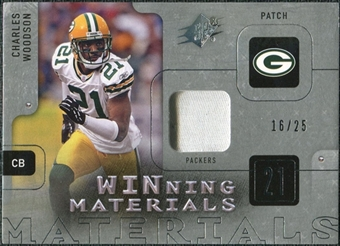 2009 Upper Deck SPx Winning Materials Patch #WCW Charles Woodson /99