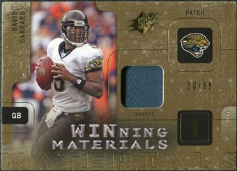 2009 Upper Deck SPx Winning Materials Patch #WDG David Garrard /99