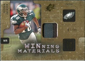 2009 Upper Deck SPx Winning Materials Patch #WDJ DeSean Jackson /99