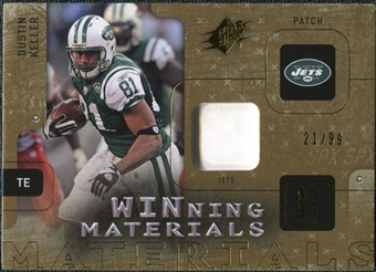 2009 Upper Deck SPx Winning Materials Patch #WDK Dustin Keller /99