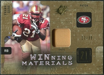2009 Upper Deck SPx Winning Materials Patch #WFG Frank Gore /99