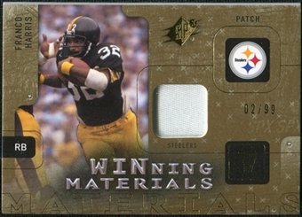 2009 Upper Deck SPx Winning Materials Patch #WFH Franco Harris /99