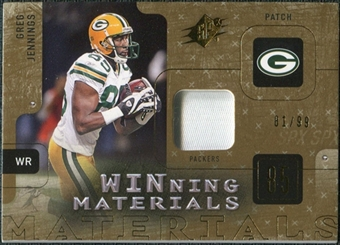2009 Upper Deck SPx Winning Materials Patch #WGJ Greg Jennings /99