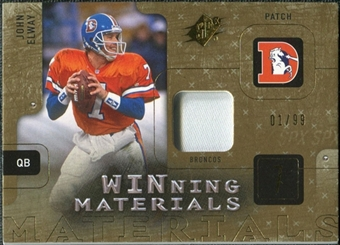 2009 Upper Deck SPx Winning Materials Patch #WJE John Elway /99