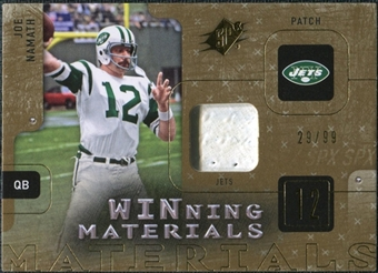 2009 Upper Deck SPx Winning Materials Patch #WJN Joe Namath 29/99