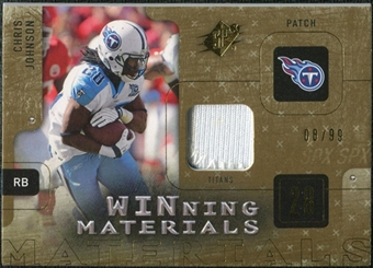 2009 Upper Deck SPx Winning Materials Patch #WJO Chris Johnson /99