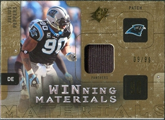 2009 Upper Deck SPx Winning Materials Patch #WJP Julius Peppers /99