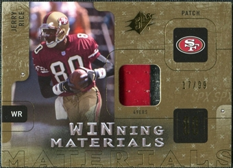 2009 Upper Deck SPx Winning Materials Patch #WJR Jerry Rice /99