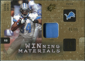2009 Upper Deck SPx Winning Materials Patch #WKS Kevin Smith /99